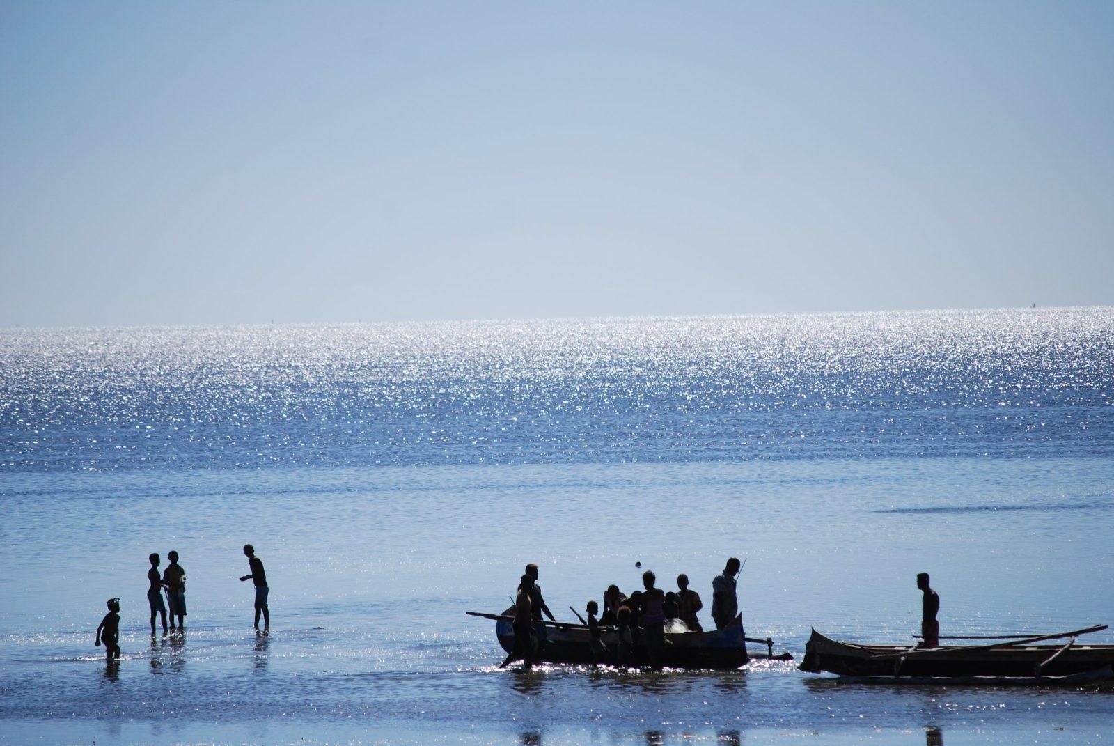 Fiskare i Mangily, Madagaskar