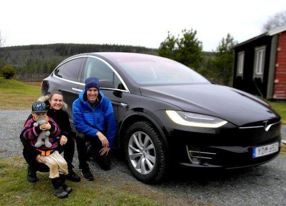 Heidi Andersson och Björn Ferry med Dante