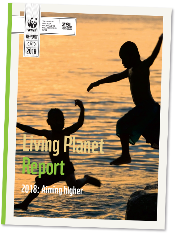 Living Planet Report 2018 omslag