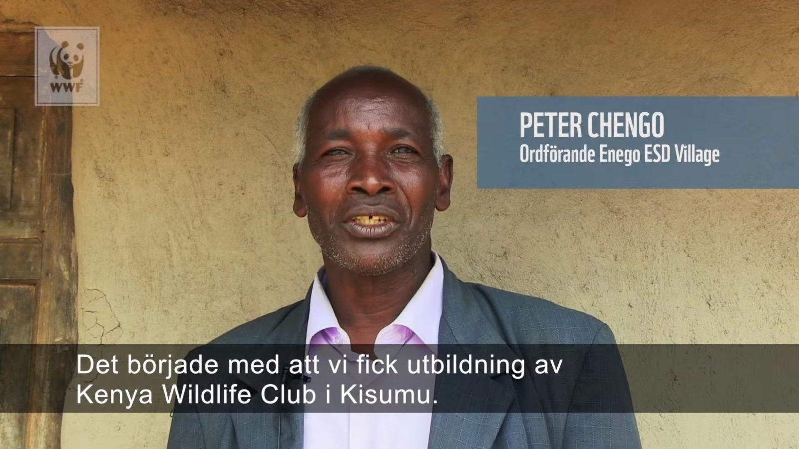 Peter Chengo om Hållbar utveckling i Enego Village Kenya