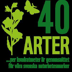 40 arter per kvadratmeter är genomsnittet för våra svenska naturbetesmarker