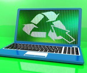 reportage dator återvinningslogo