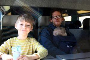 Familjen Weiss tågresa Foto: privat