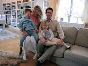 Familjen Westerstrand Foto: Martina Strand Nyhlin