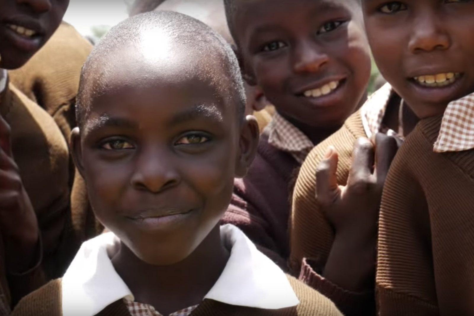 Skolbarn i Nandi Hills i Kenya