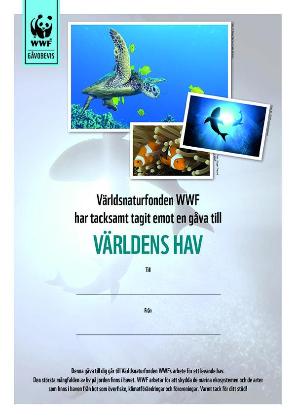 WWF Gåvobevis Världens Hav