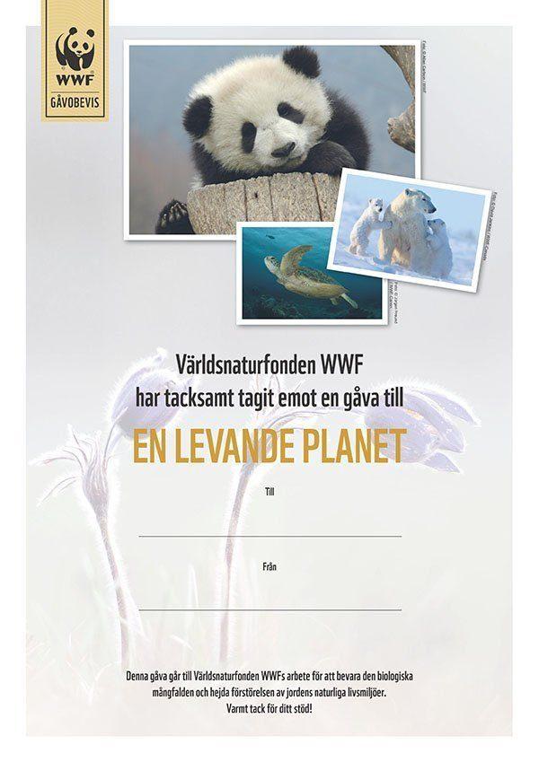 WWF Gåvobevis En levande planet