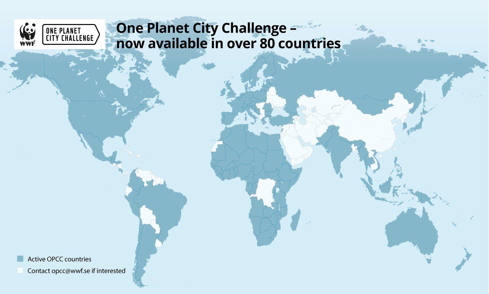 OPCC – deltagande länder 2021